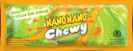Nano Nano Chewy Rasa Mangga dan Sirsak