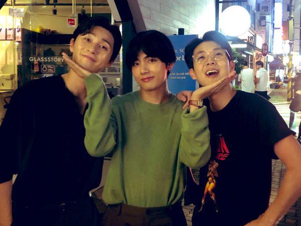 Serunya Park Seo Joon, Choi Woo Sik, dan V BTS Liburan Bareng di Kapal Pesiar