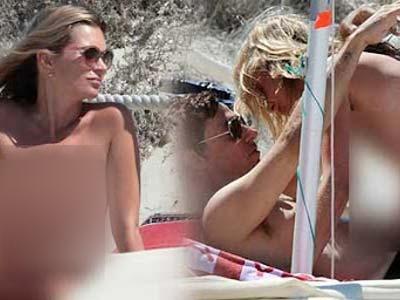 Kate Moss Tertangkap Kamera Bercumbu Tanpa Bra
