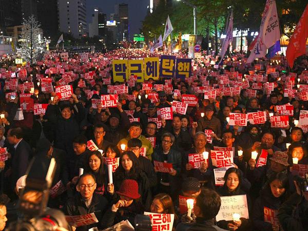 Demo Skandal Presiden Korsel Berlanjut, Dua Juta Warga Siap Padati Jalanan Seoul