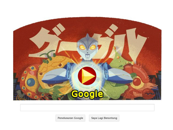 Google Doodle Ikut Rayakan Hari Ulang Tahun Pencipta Godzilla dan Ultraman!