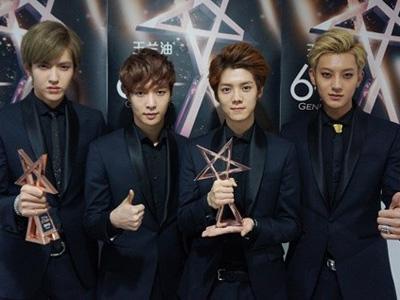 EXO Sabet Dua Penghargaan dalam 'Chinese Billboard Newcomer Awards'!