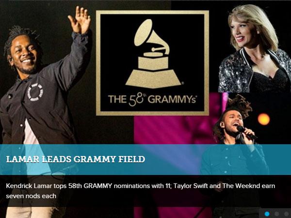 Ini Daftar Para Musisi Dunia yang Masuk Nominasi Grammy Awards 2016