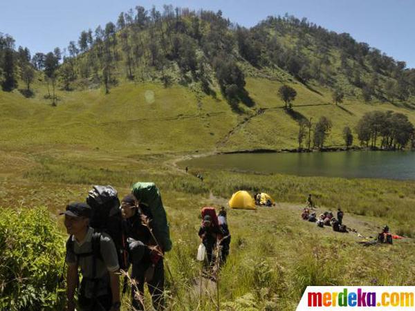 10 Hektare Hutan Gunung Semeru Terbakar, Jalur Pendakian Ditutup