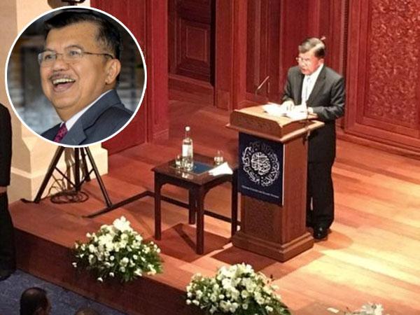 Wakil Presiden Jusuf Kalla Beri Kuliah Umum di Oxford Soal Islam dan Vonis Ahok