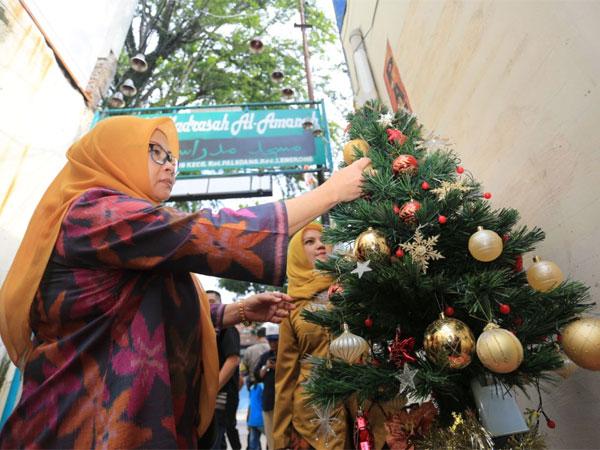 Sejuknya Perayaan Natal di 'Kampung Toleransi' Bandung