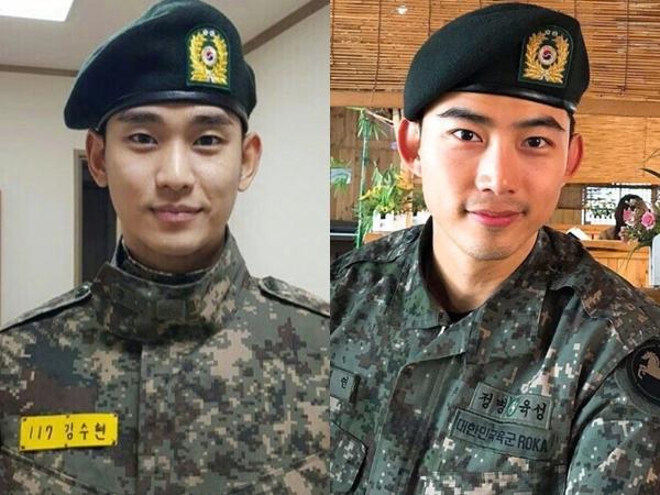 Mau Selesai, Kim Soo Hyun dan Taecyeon 2PM Justru Dapat Promosi Naik Jabatan Tinggi di Militer