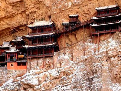 Wah, Kuil di Cina ini Menempel di Tebing!