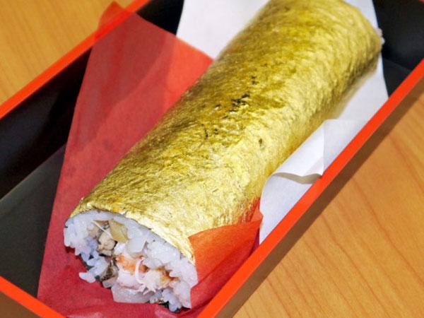 Diharapkan Membawa Keberuntungan Ganda, Restoran Ini Sajikan Sushi Berlapis Emas