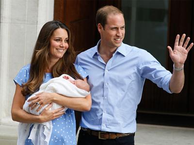 Foto: Kehadiran Pertama Royal Baby di Depan Publik