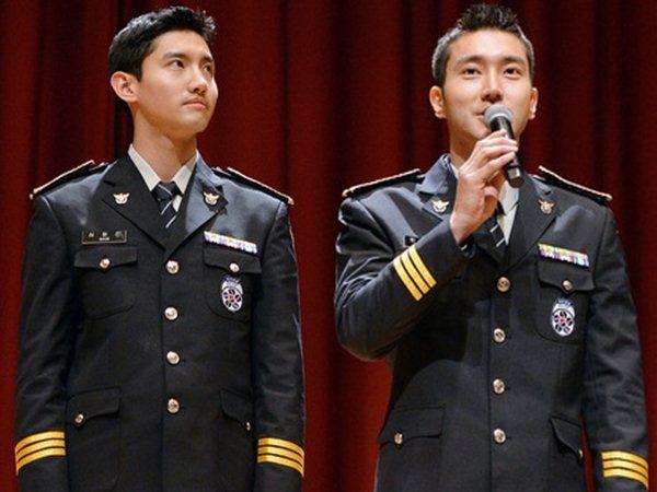 Tak Ada Sesi Penyambutan Saat Siwon Super Junior dan Changmin TVXQ Keluar Wamil?