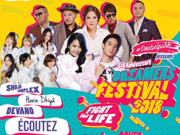 Bersiap dengan 'Line Up' Artis Terbaru dan Kekinian di 'Dreamers Festival 2018 - Fight For Life'!