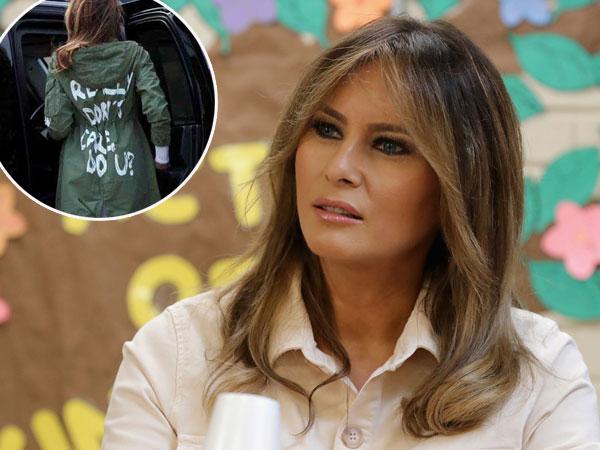 Inikah Makna di Balik Tulisan Jaket Viral Melania Trump yang Hanya Seharga Rp 500 Ribuan?