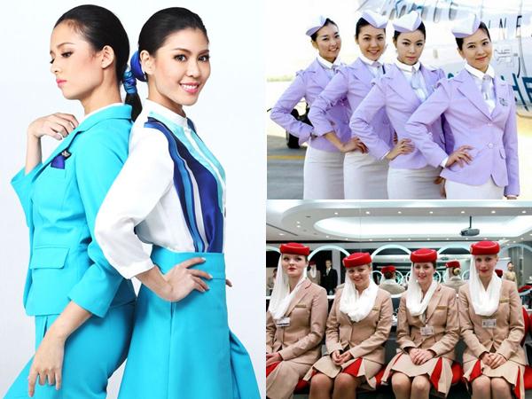 Cantik, Berbagai Seragam Pramugari Paling Fashionable Ini Menambah Mood Liburan Selama Penerbangan