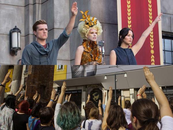 Wow, Fans 'Mockingjay' Di Seluruh Dunia Bersatu Dalam 'Salam Tiga Jari'!