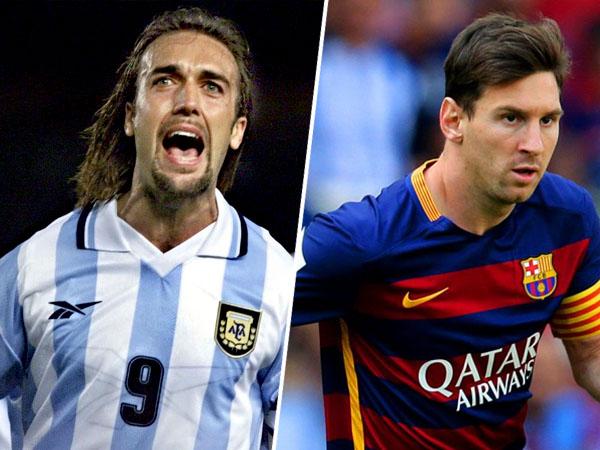 Gabriel Batistuta Akui Ingin 'Tanding' Bareng Lionel Messi