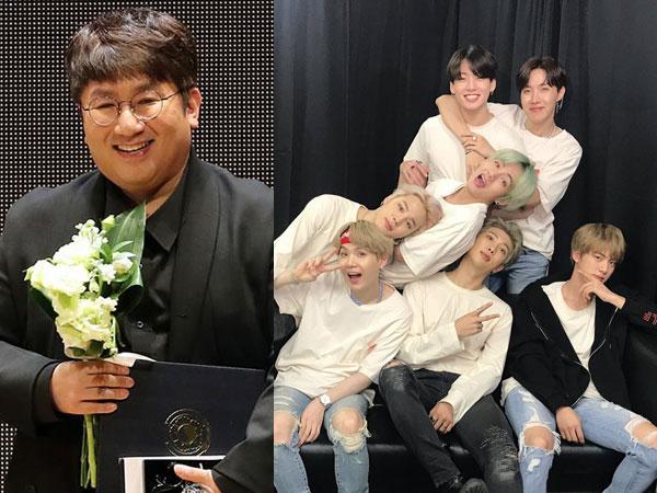 Surat Bang Shi Hyuk untuk BTS Tiga Tahun Lalu Kembali Jadi Perhatian
