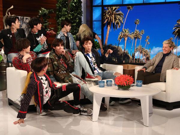 Kocaknya BTS Dibuat Kaget Saat Tampil di 'The Ellen DeGeneres Show'