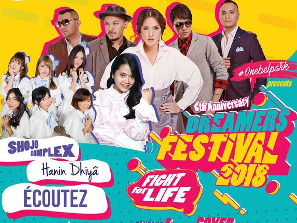 Yuk Seru-Seruan Bareng 'First Line Up' Artis 'Dreamers Festival 2018' 24 Maret Nanti!