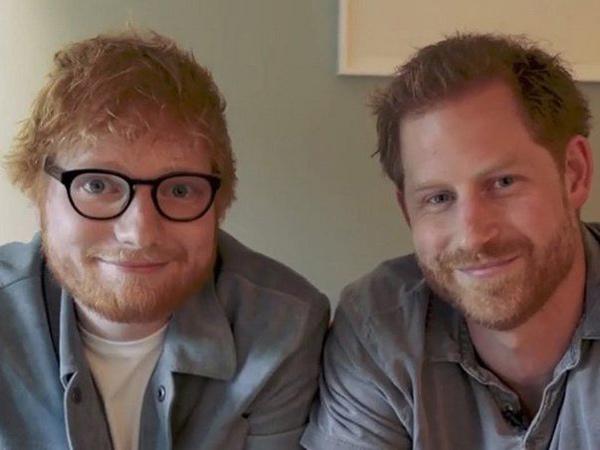 Sering Dibilang Mirip, Ed Sheeran dan Pangeran Harry Bikin Video Bareng