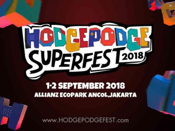 'Hodgepodge Superfest 2018' Umumkan Line Up Terbaru untuk Gelaran Hits September Nanti