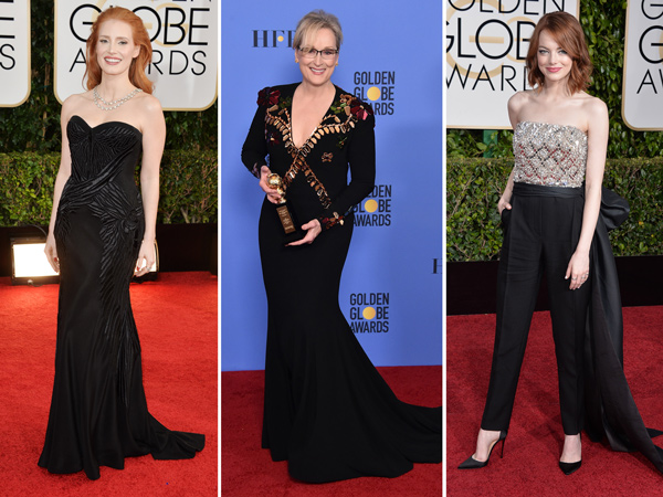 Para Aktris Hollywood Siap Kompak Kenakan Busana Hitam di Golden Globe Awards 2018