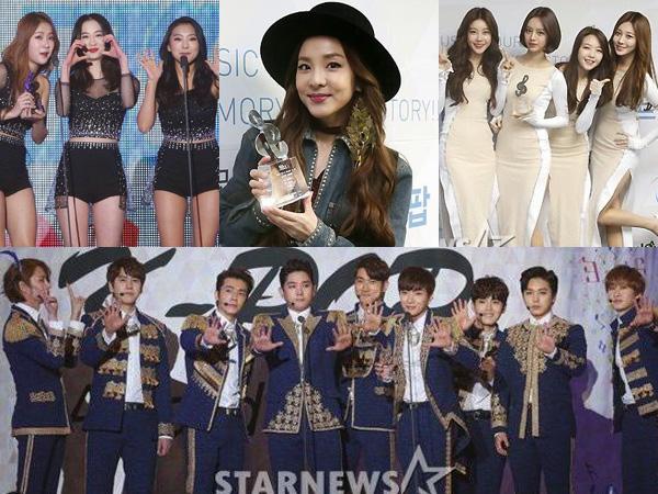 Para Idola K-Pop Ini Berhasil Raih Trofi Kemenangan di '4th Gaon Chart K-Pop Awards'!