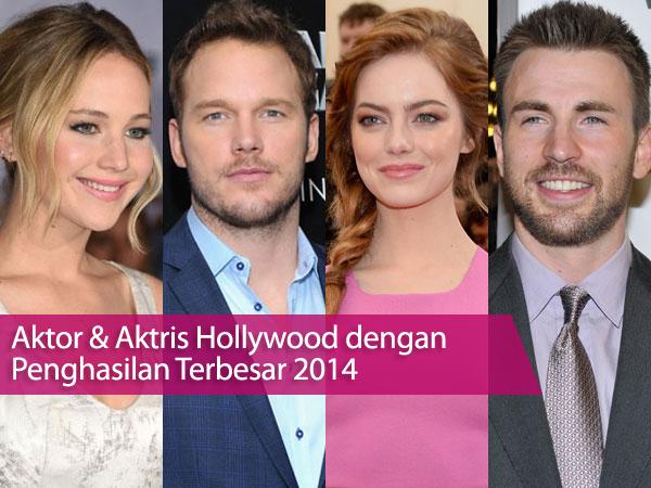 Siapa Saja Aktor dan Aktris Hollywood Berpenghasilan Terbesar di 2014?