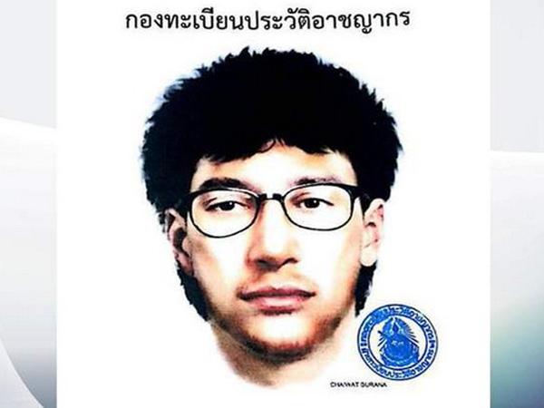 Polisi Bangkok Rilis Foto Sketsa Dugaan Pelaku Bom Kuil Erawan
