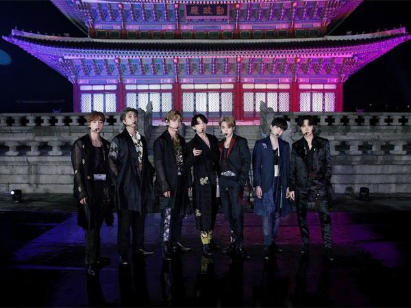 Penampilan Megah BTS di Istana Gyeongbokgung, Rambut Dikuncir Jungkook Bikin Heboh