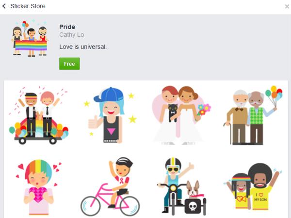 Setelah di LINE, Stiker Pasangan Sejenis Juga Beredar di Facebook dan WhatsApp