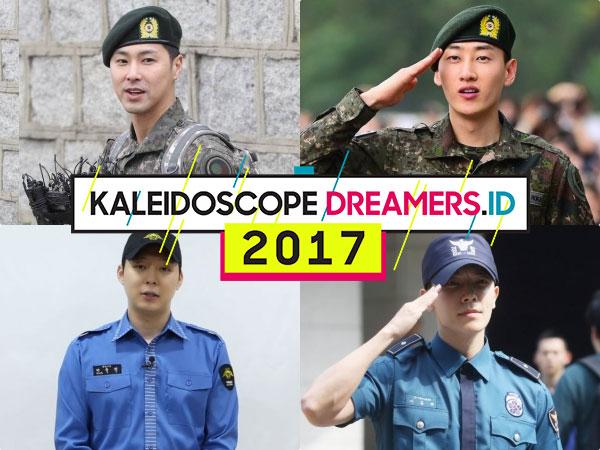 Inilah Sederet Seleb Cowok Korea Selatan yang Selesai Wajib Militer di Tahun 2017