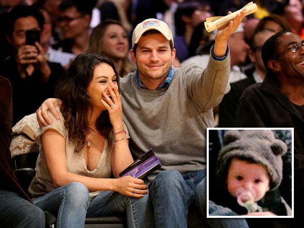Lucunya Putri Pertama Ashton Kutcher dan Mila Kunis, Wyatt Isabelle!