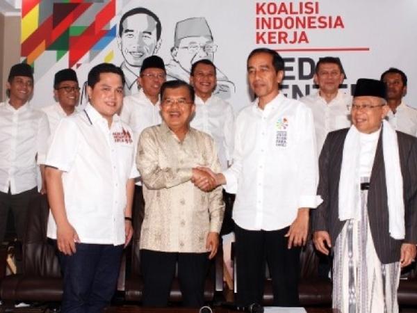 Peran Penting JK Di Balik Penunjukkan Erick Thohir Jadi Ketua Timses Jokowi-Ma'ruf Amin