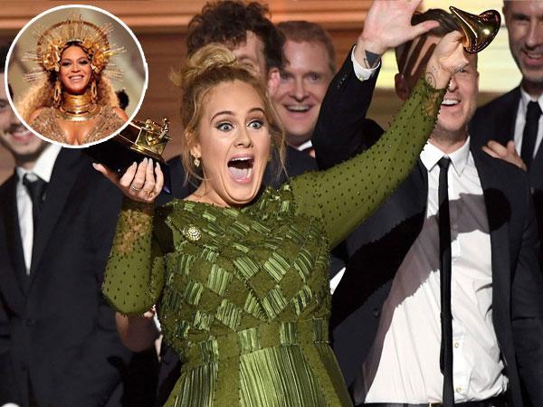 Adele Patahkan Piala Grammy Awards Gara-gara Beyonce Knowles