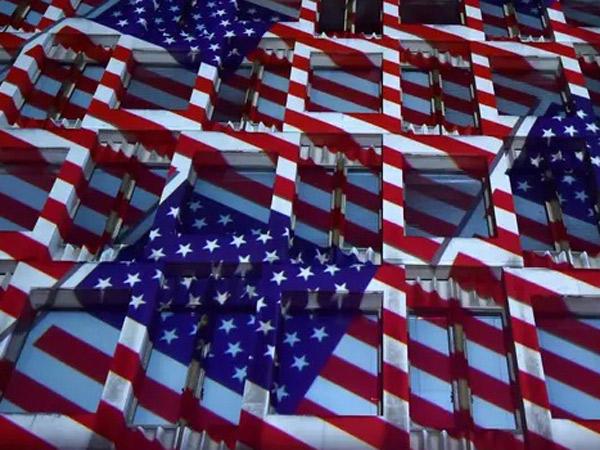 Unik, Gedung Kedutaan Dicat Bendera Kebangsaan Demi Menyambut Pilpres Amerika!
