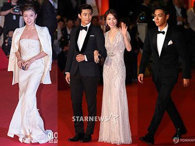 Gaya Glamor dan Elegan Seleb Korea di 18th Busan International Film Festival