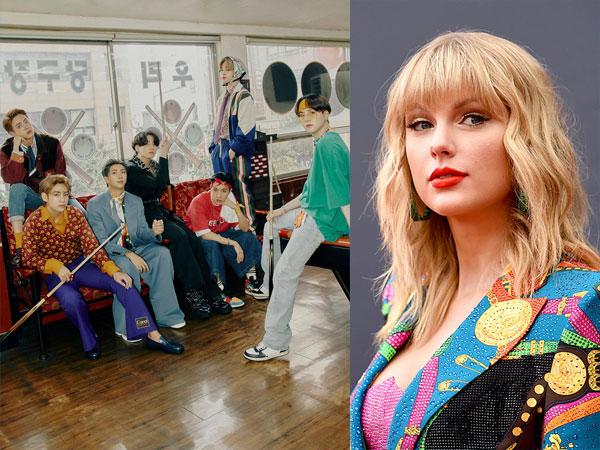 BTS Gabung Taylor Swift Masuk Klub Eksklusif Chart Billboard
