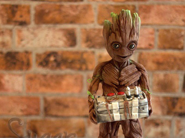 Terlihat Nyata, Replika Groot 'Guardians of the Galaxy' dari Cokelat Ini Bikin Gemas untuk Dimakan!