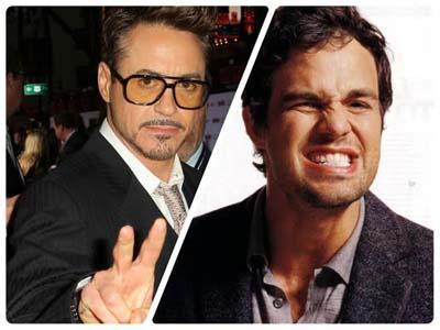 Intip Foto 'Pamer' Robert Downey Jr. dan Mark Ruffalo dari Lokasi Syuting 'The Avengers: Age of Ultron' Yuk!