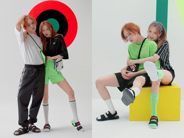 Intip Gaya Pemotretan Casual Sporty Ala HyunA dan E'Dawn Bareng PUMA