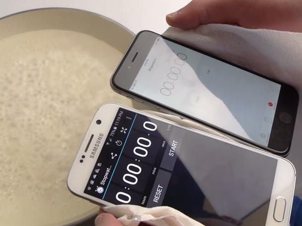 Sama-sama Direbus di Air Mendidih, Lebih Kuat Samsung GALAXY S6 atau iPhone 6?