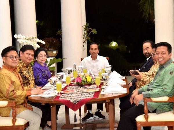 Jokowi dan 6 Ketum Parpol Koalisi Kompak Tentukan Satu Nama Cawapres