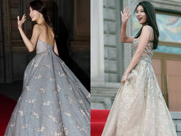 Gaun Cantik Bak Princess YoonA vs Suzy di Asia Artist Awards 2016, Siapa Tercantik?
