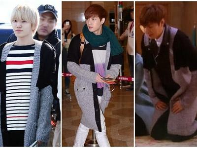 Cardigan Kembar Lee Minho, Sungjong Infinite, dan Lay EXO, Siapa Lebih Modis?