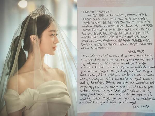 Mendekati Hari Pernikahan, Hyerim Tulis Surat untuk Penggemar
