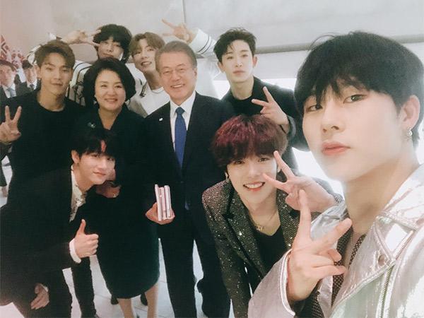 Keseruan MONSTA X Saat Tampil di Hadapan Presiden Korea Moon Jae In