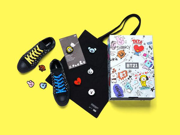 Converse Rilis Koleksi Sepatu Edisi Spesial Kolaborasi dengan Karakter BTS 'BT21'