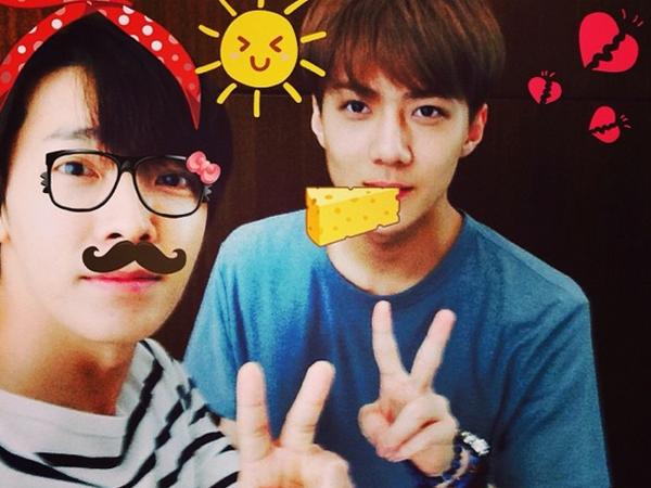 Lucunya Donghae Super Junior dan Sehun EXO Saling Bertukar Rindu!