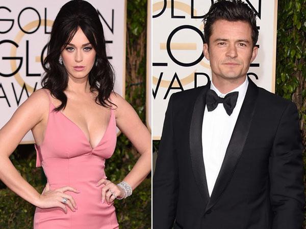 Saling Goda di After Party Golden Globes, Ada Apa Antara Katy Perry dan Orlando Bloom?